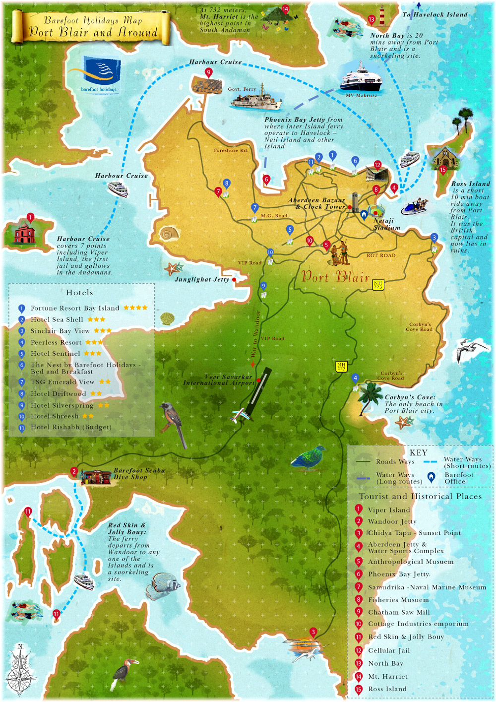 Barefoot Holidays Maps